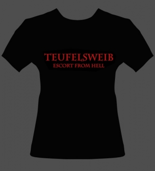 Girlie-Shirt: Teufelsweib - Escort from Hell